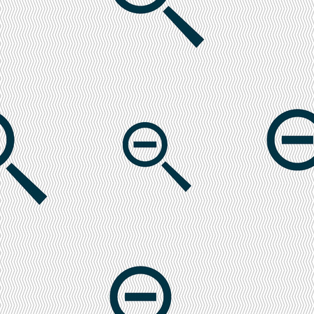 interface menu tool: Magnifier glass, Zoom tool icon sign. Seamless abstract background with geometric shapes. illustration Stock Photo