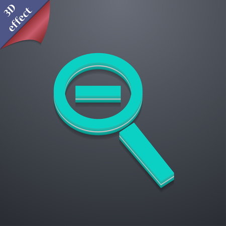 interface menu tool: Magnifier glass, Zoom tool icon symbol. 3D style. Trendy, modern design with space for your text illustration. Rastrized copy