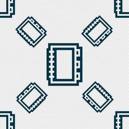 epublishing: Book icon sign. Seamless pattern with geometric texture. illustration Stock Photo