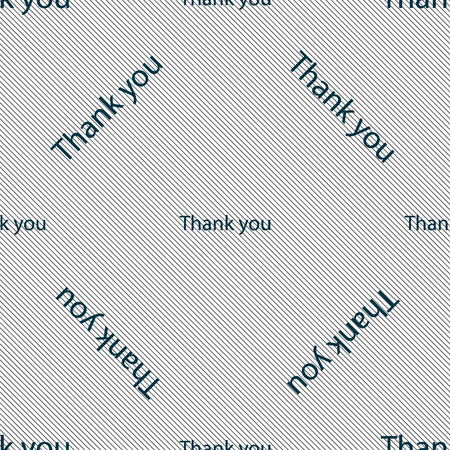 politeness: Thank you sign icon. Gratitude symbol. Seamless pattern with geometric texture. illustration