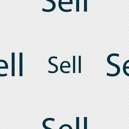 contributor: Sell sign icon. Contributor earnings button. Seamless abstract background with geometric shapes. illustration
