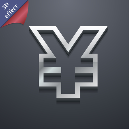 jpy: Yen JPY icon symbol. 3D style. Trendy, modern design with space for your text illustration. Rastrized copy Stock Photo