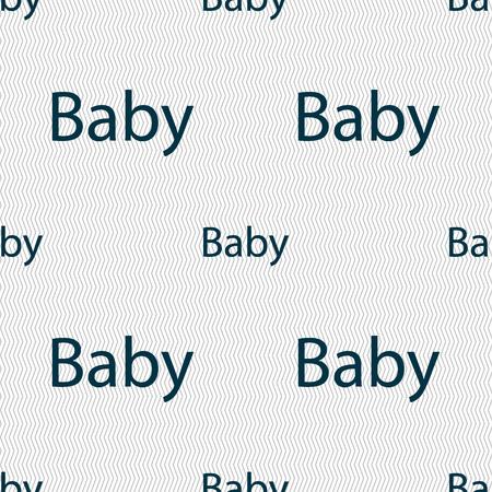 bebe a bordo: Bebé a bordo icono de la señal. Infantil en símbolo de precaución coche. tetina del chupete de bebé. Seamless abstracto con formas geométricas. ilustración