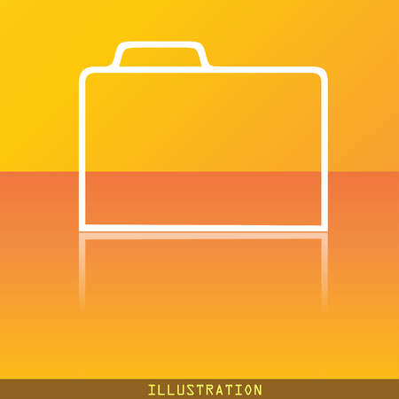 map case: Document folder icon symbol Flat modern web design with reflection and space for your text. illustration. Raster version Stock Photo