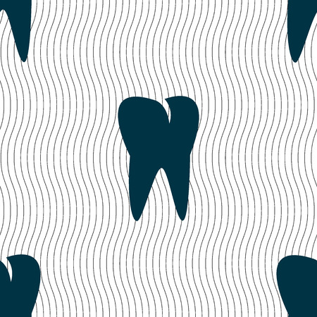 cavity braces: tooth icon. Seamless pattern with geometric texture. illustration