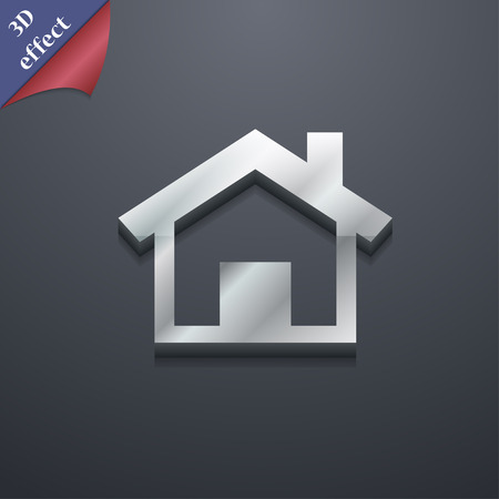 main: Home, Main page icon symbol. 3D style. Trendy, modern design with space for your text illustration. Rastrized copy