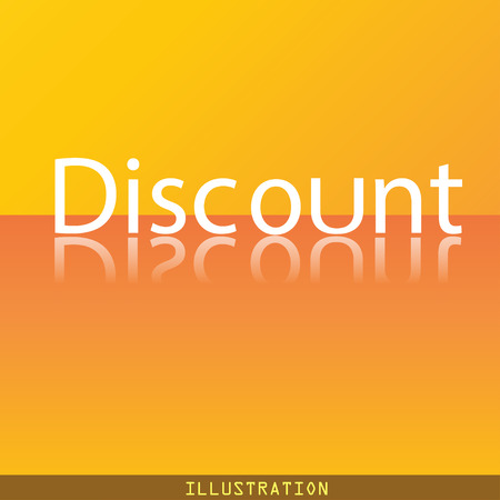 modern illustration: discount icon symbol Flat modern web design with reflection and space for your text. illustration. Raster version