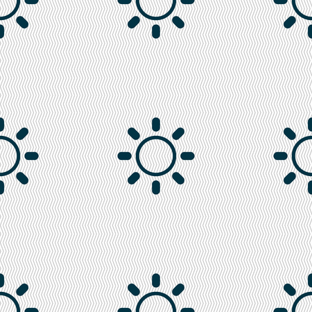 brightness: Brightness icon sign. Seamless abstract background with geometric shapes. illustration