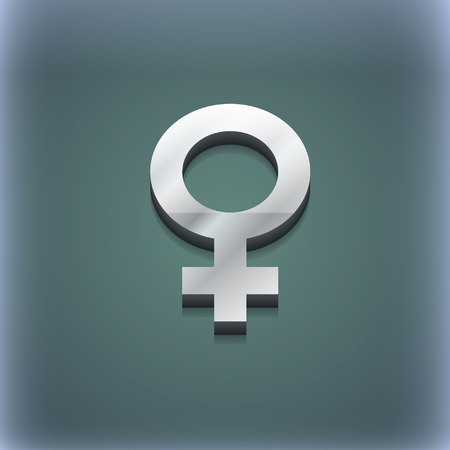 raster sex: Symbols gender, Female, Woman sex icon symbol. 3D style. Trendy, modern design with space for your text illustration. Raster version