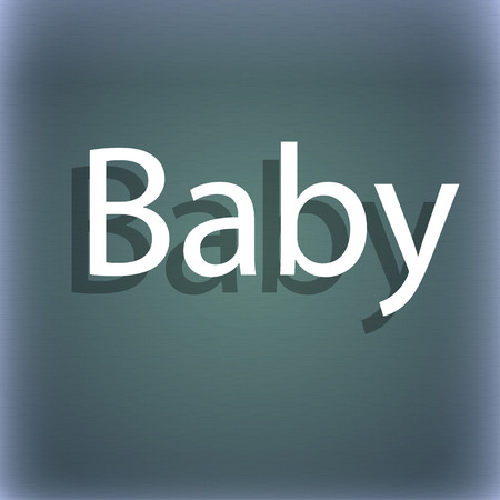 bebe a bordo: Beb� a bordo icono de la se�al. Infantil en s�mbolo de precauci�n coche. tetina del chupete de beb�. En el fondo abstracto azul-verde con la sombra y el espacio para el texto. ilustraci�n