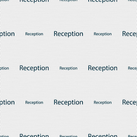 reception table: Reception sign icon. Hotel registration table symbol. Seamless abstract background with geometric shapes. illustration Stock Photo