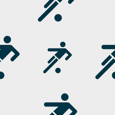 linesman: football player icon. Seamless abstract background with geometric shapes. illustration Stock Photo