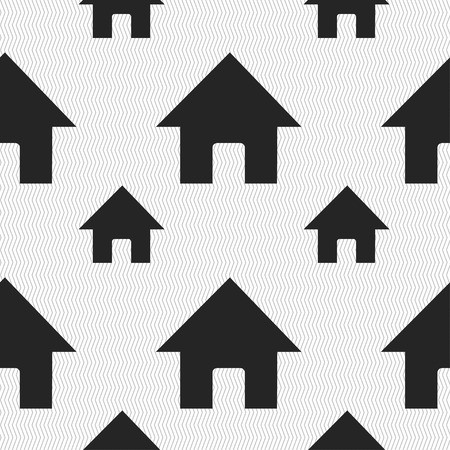 main: Home, Main page icon sign. Seamless pattern with geometric texture. illustration
