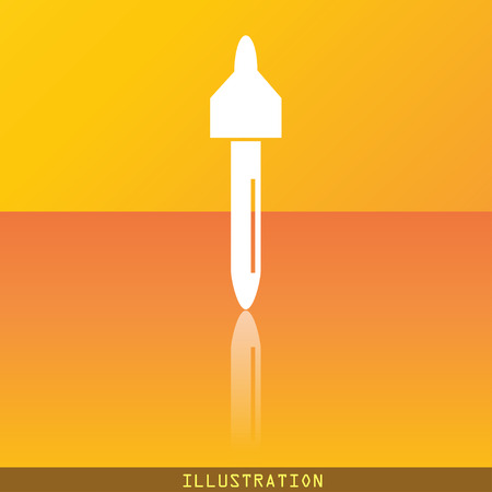 eye pipette: dropper icon symbol Flat modern web design with reflection and space for your text. illustration. Raster version Stock Photo