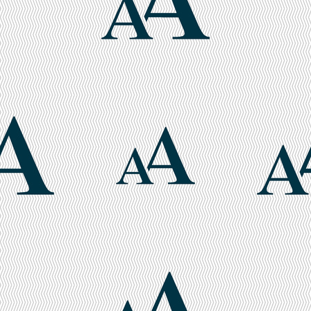 enlarge: Enlarge font, AA icon sign. Seamless abstract background with geometric shapes. illustration
