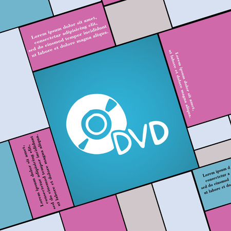 storage data product: dvd icon sign. Modern flat style for your design. illustration