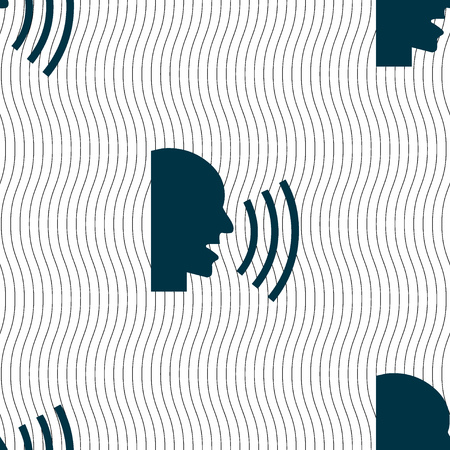 noisily: Talking Flat modern web icon. Seamless pattern with geometric texture. illustration