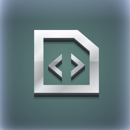 programming code: Programming code icon symbol. 3D style. Trendy, modern design with space for your text illustration. Raster version