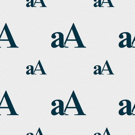 enlarge: Enlarge font, aA icon sign. Seamless pattern with geometric texture. illustration