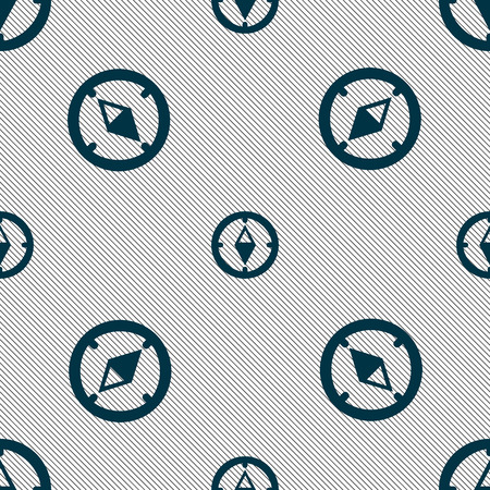 windrose: Compass sign icon. Windrose navigation symbol. Seamless pattern with geometric texture. illustration