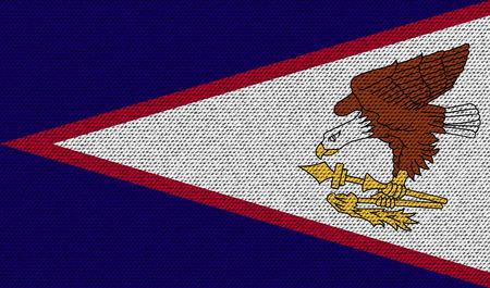 dependency: Flags of American Samoa on denim texture. Vector illustration Illustration