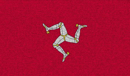 isles: Flags of Isle of man on denim texture. Vector illustration Illustration