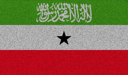 somaliland: Flags of Somaliland on denim texture. Vector illustration