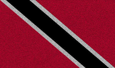 trinidadian: Flags of Trinidad and Tobago on denim texture. Vector illustration