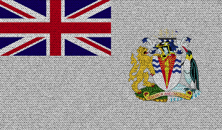 antarctic: Flags of British Antarctic Territory on denim texture. Vector illustration Illustration