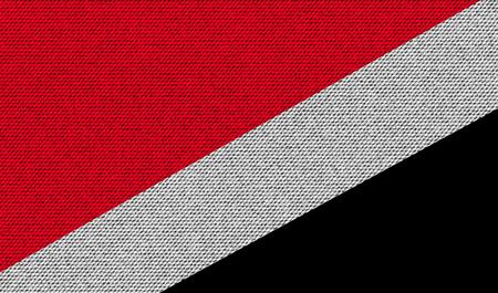 sealand: Flags of Sealand Principality on denim texture. Vector illustration