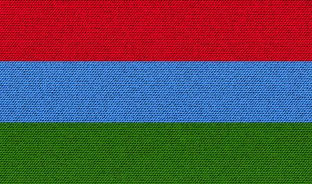 northwestern: Flags of Karelia on denim texture. Vector illustration Illustration