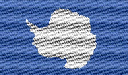 antarctica: Flags of Antarctica on denim texture. Vector illustration Illustration