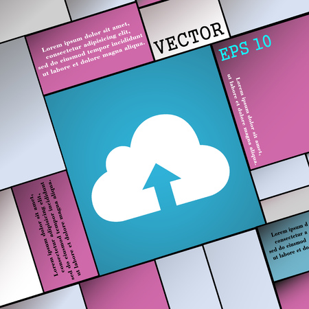 archiving: Backup icon sign. Modern flat style for your design. Vector illustration Illustration