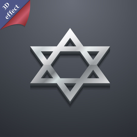 heretic: pentagram icon symbol. 3D style. Trendy, modern design with space for your text Vector illustration