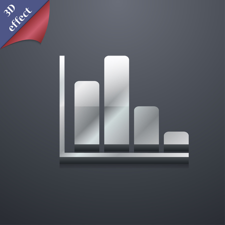 economic forecast: Infographic icon symbol. 3D style. Trendy, modern design with space for your text Vector illustration