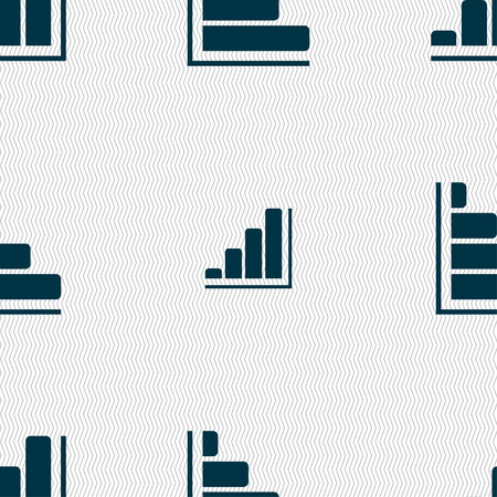 economic forecast: Infographic icon sign. Seamless pattern with geometric texture. Vector illustration