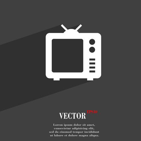 space television: Old TV, Television symbol Flat modern web design with long shadow and space for your text. Vector illustration Illustration