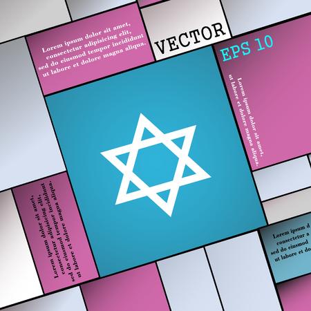 blasphemy: pentagram icon sign. Modern flat style for your design. Vector illustration Illustration