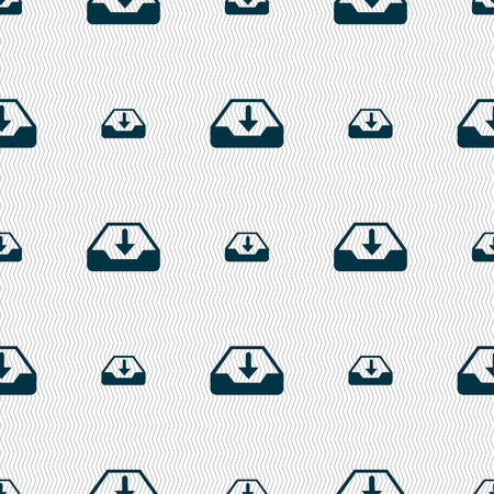 restoring: Restore icon sign. Seamless pattern with geometric texture. Vector illustration Illustration