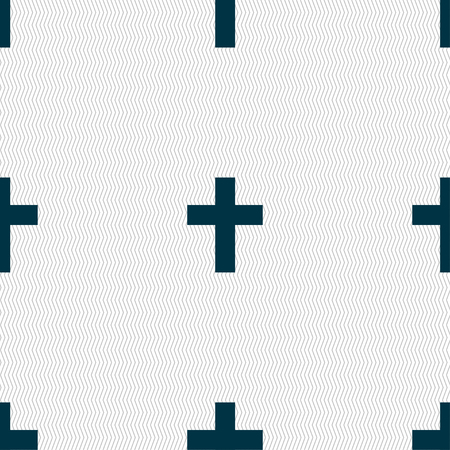 commandment: religious cross, Christian icon sign. Seamless pattern with geometric texture. Vector illustration