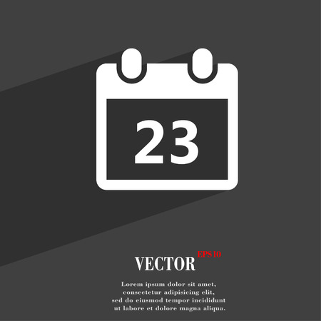 calendar page: calendar page symbol Flat modern web design with long shadow and space for your text. Vector illustration Illustration