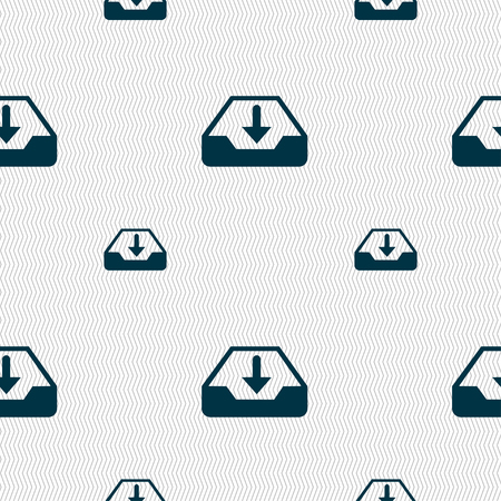 restore: Restore icon sign. Seamless pattern with geometric texture. Vector illustration Illustration