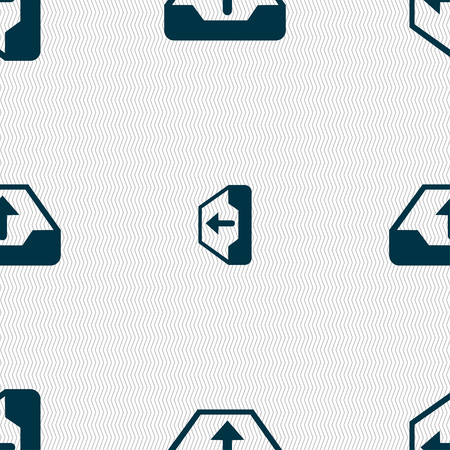 secure backup: Backup icon sign. Seamless pattern with geometric texture. Vector illustration Illustration