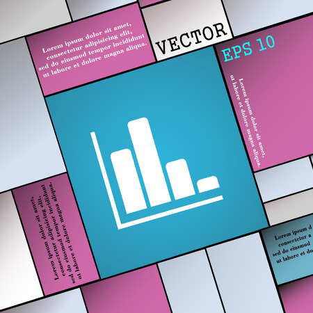 sales trend: Infographic icon sign. Modern flat style for your design. Vector illustration