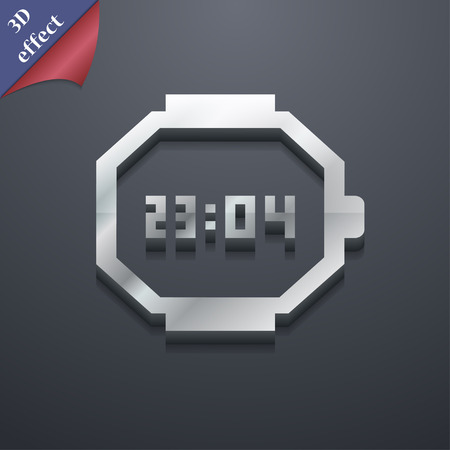 straps: wristwatch icon symbol. 3D style. Trendy, modern design with space for your text Vector illustration