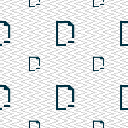 archive site: Remove Folder icon sign. Seamless pattern with geometric texture. Vector illustration