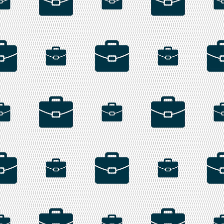 attache: suitcase icon sign. Seamless pattern with geometric texture. Vector illustration Illustration