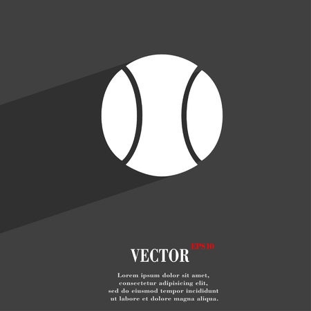 seams: baseball symbol Flat modern web design with long shadow and space for your text. Vector illustration Illustration