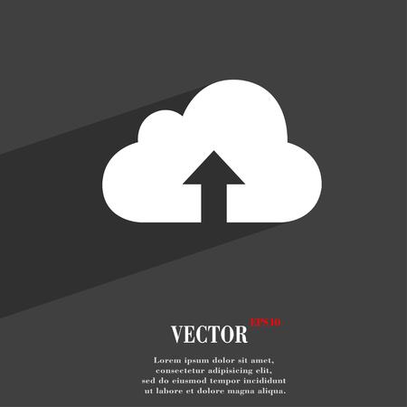 Design plat symbole de sauvegarde moderne web avec ombre et de l'espace pour votre texte. Vector illustration
