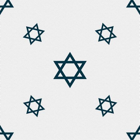 blasphemy: pentagram icon sign. Seamless pattern with geometric texture. Vector illustration
